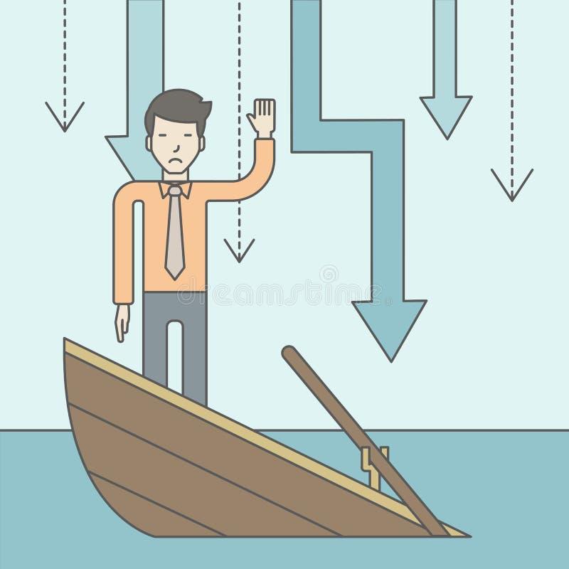 konkurs vektor illustrationer