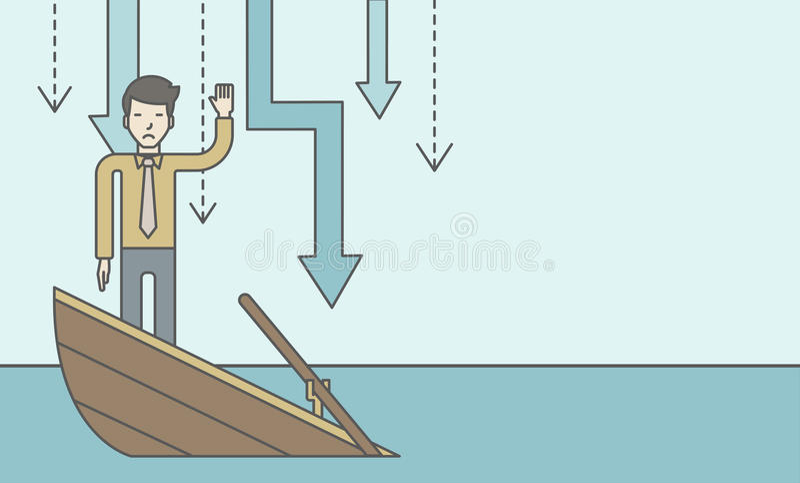 konkurs stock illustrationer