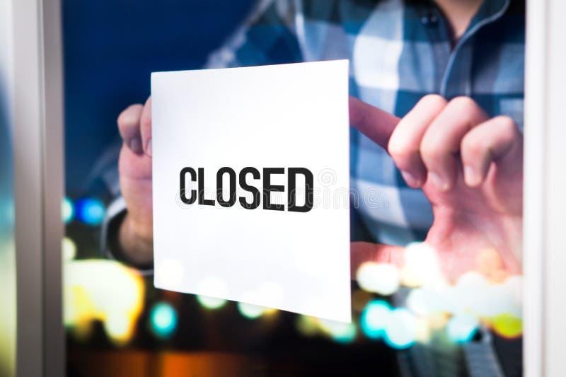 Konkurs den missade affären som ner går eller öppnar, tajmar begrepp arkivfoton