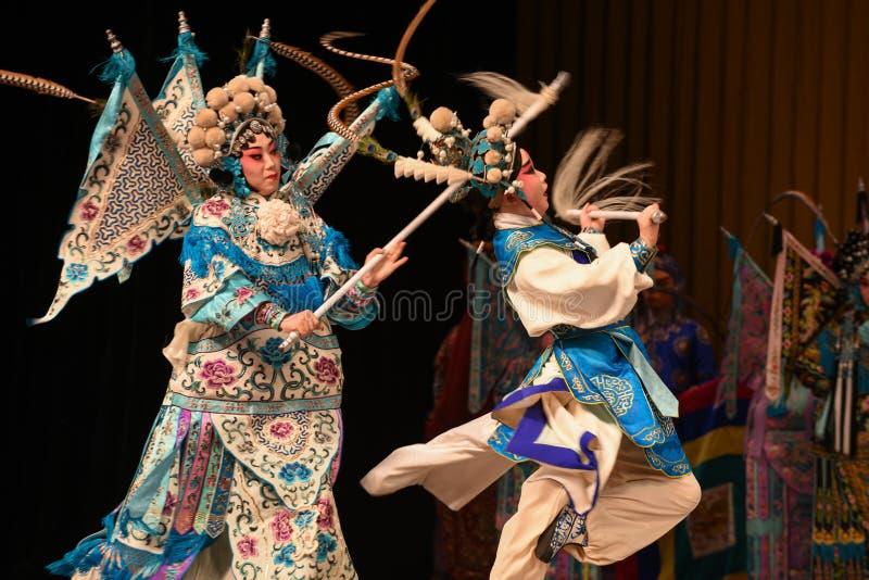 """Konkurs dla matki i dziecka Pekin Opera"""" kobiet generałów Yang Family† zdjęcie royalty free"""