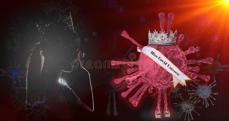 Konkurs piękności panny Diamond Silver Crown obraz stock