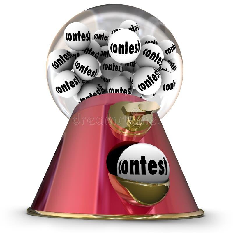 Konkursu Gumball zwycięzcy Maszynowy Przypadkowy rysunek royalty ilustracja