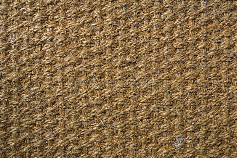 Konopiany dywan, sizalu tła sizalu tekstura zdjęcia royalty free