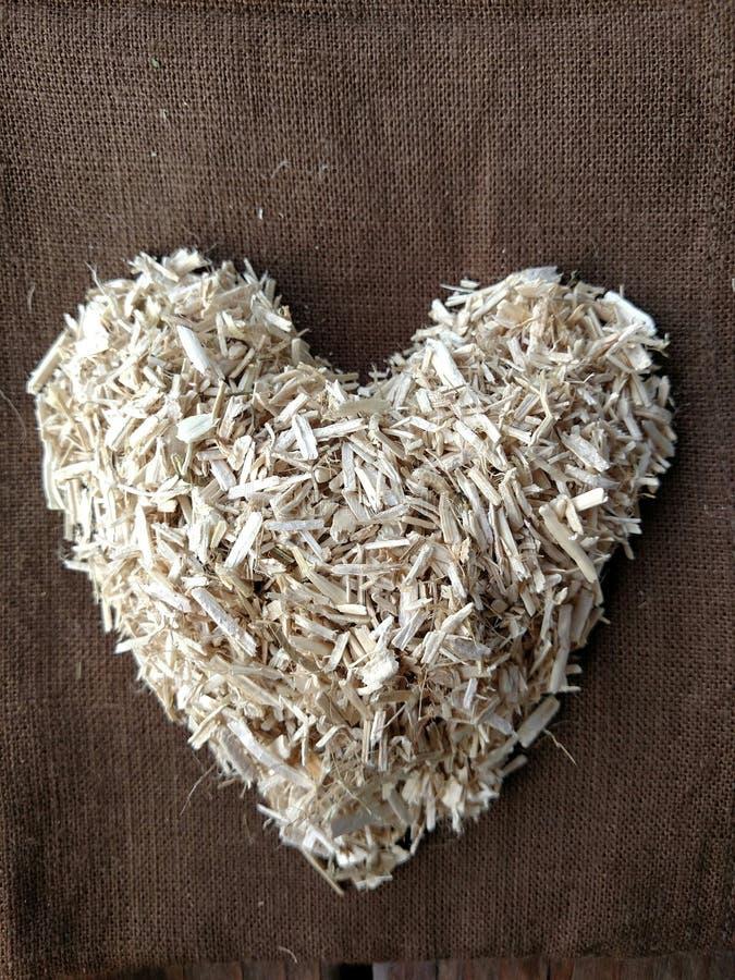 Konopiany serce obraz stock