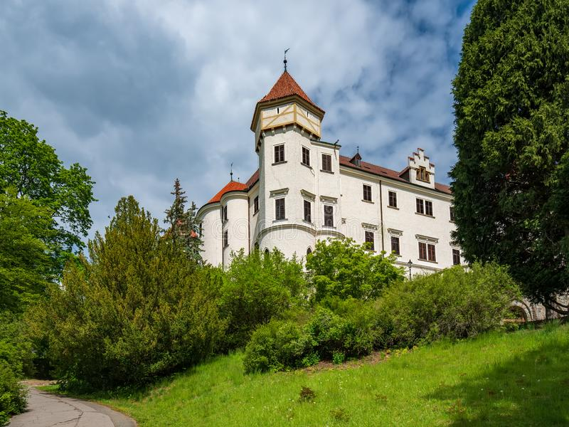 Konopiste castle near Prague, Benesov, Czech republic royalty free stock image