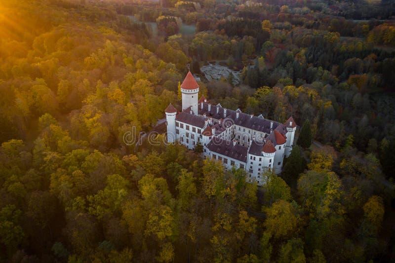 konopiste grodowa czeska republika obrazy royalty free