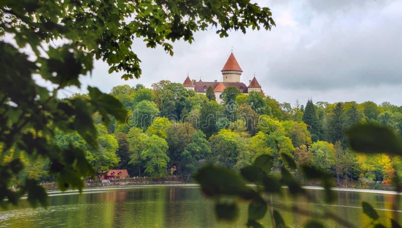 Konopiste slott arkivbild