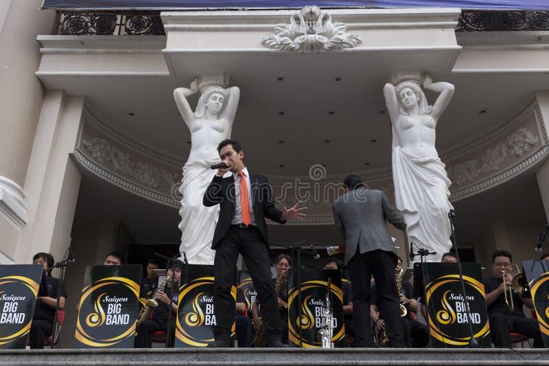 Konsert för öppen luft i Saigon royaltyfri foto