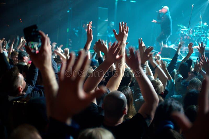 Konsert för fans arkivfoto