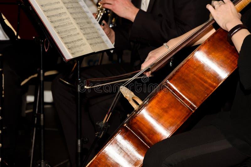 Konsert för symfoniorkester royaltyfria bilder