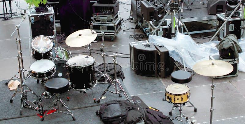 Konsert i kulisserna royaltyfri fotografi