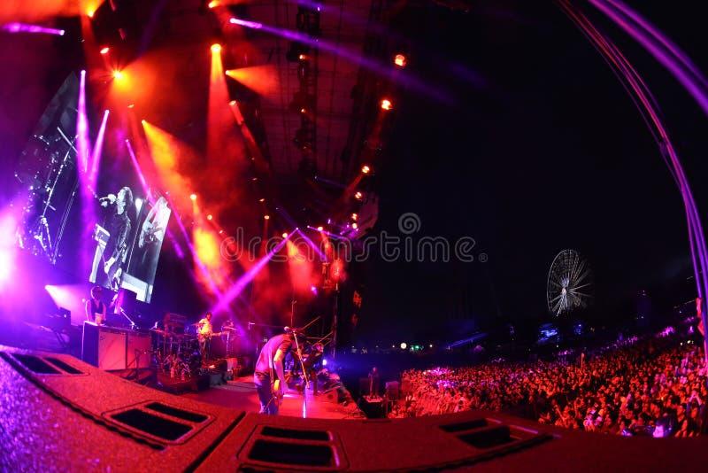 Konsert i mexikansk stad av Monterrey royaltyfri fotografi
