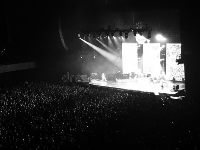 Konsert i svartvitt royaltyfri fotografi