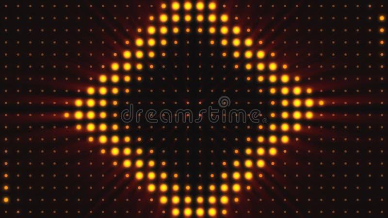 Konsertbeståndsdelar Panel med den LEDDE kulan Abstrakt bakgrund med animering av zoomcirklar i ledd skärm färgrikt vektor illustrationer