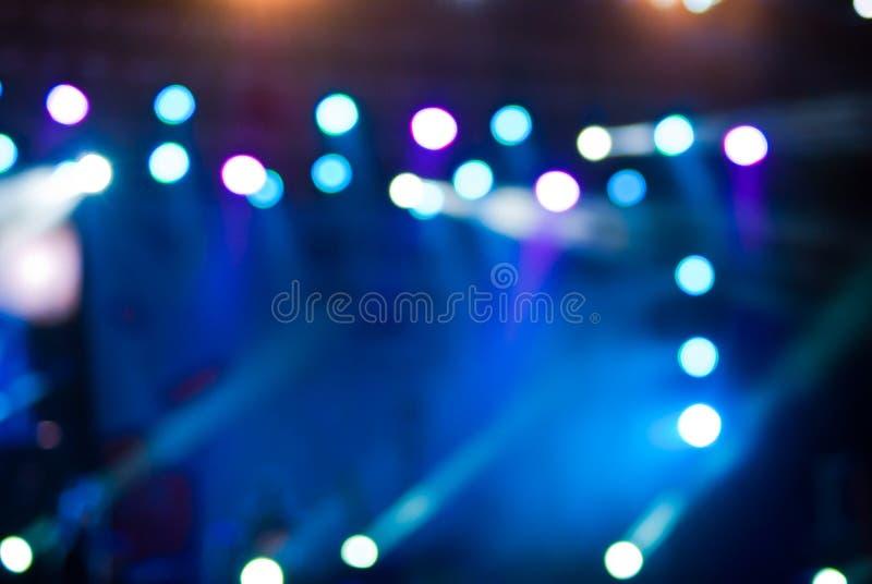 Konserten tänder bokeh royaltyfri foto
