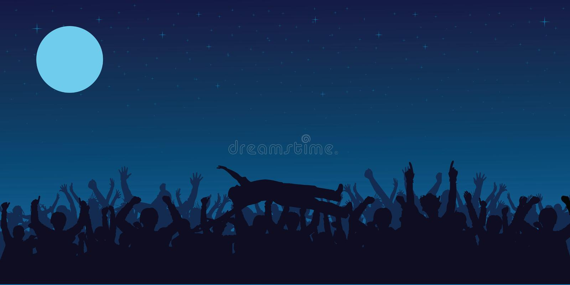 konsertfolkmassa vektor illustrationer