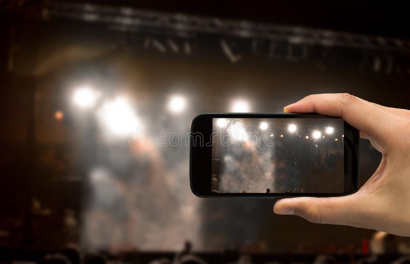Konsertinspelning fotografering för bildbyråer