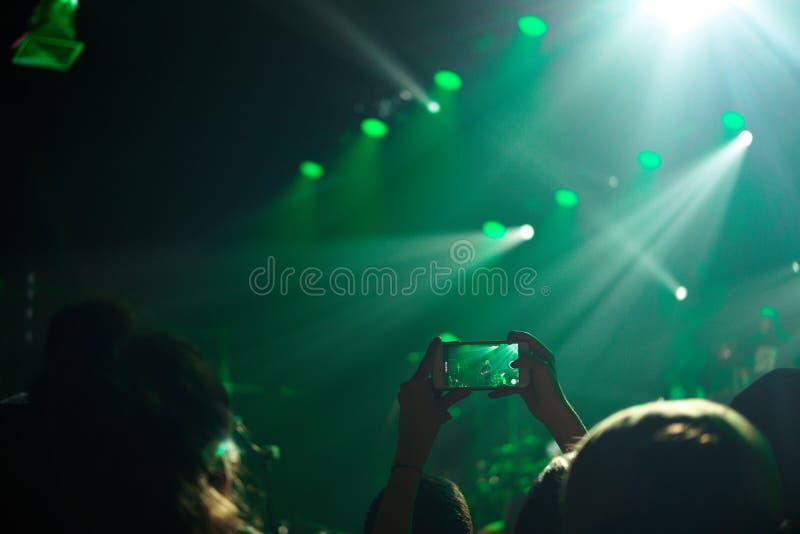 Konsertrekord royaltyfria foton