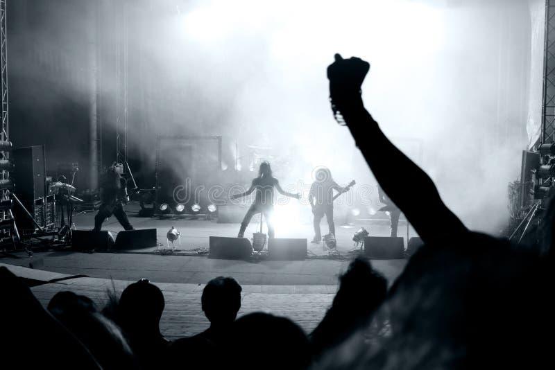 konsertrockplats royaltyfria foton