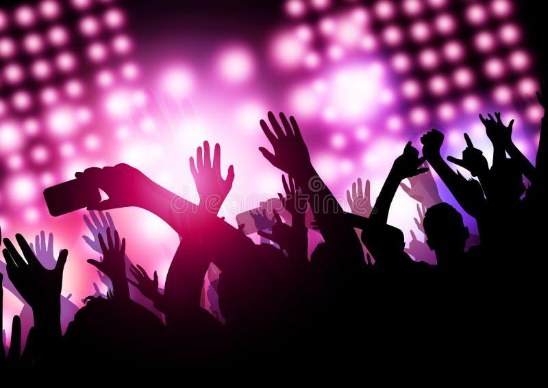 Konsertshowtid Royaltyfri Foto