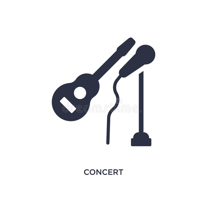 konsertsymbol på vit bakgrund Enkel beståndsdelillustration från hobbybegrepp royaltyfri illustrationer