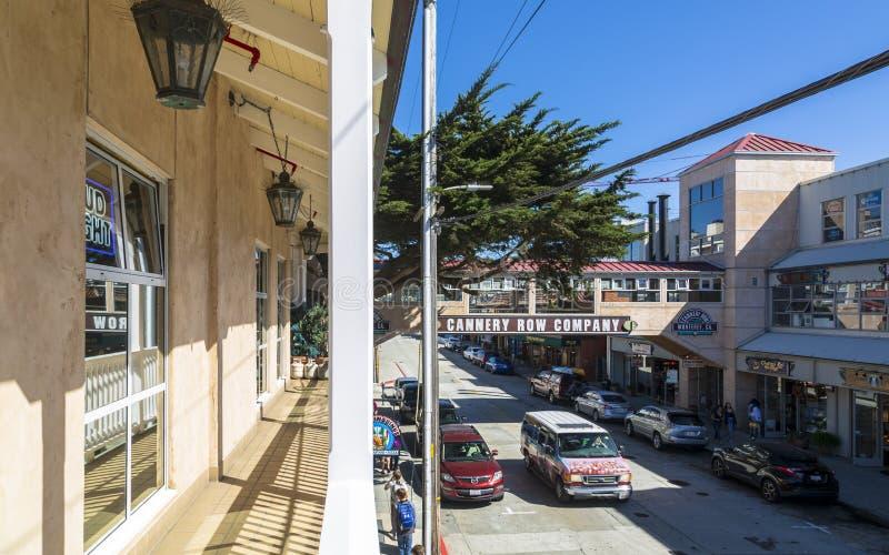 Konservenfabrik-Reihe, Monterey-Bucht, Halbinsel, Monterey, Kalifornien, die Vereinigten Staaten von Amerika, Nordamerika stockfotografie