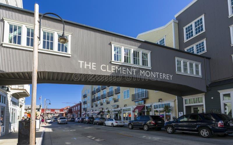 Konservenfabrik-Reihe, Monterey-Bucht, Halbinsel, Monterey, Kalifornien, die Vereinigten Staaten von Amerika, Nordamerika lizenzfreies stockfoto