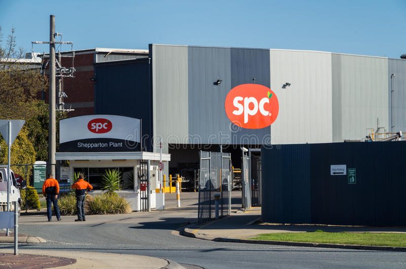 Konservenfabrik SPC Ardmona in Shepparton Australien lizenzfreie stockbilder