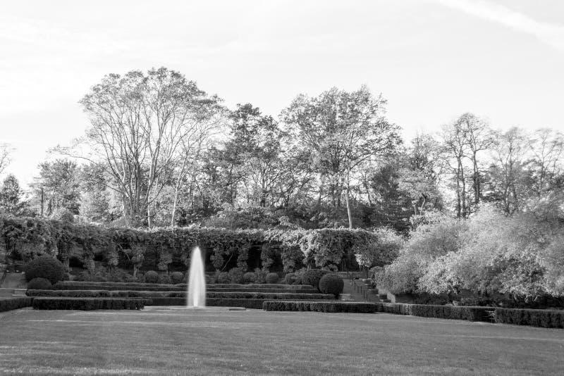 Konserwatorium ogród jest jedynym formalnym ogródem w central park zdjęcie royalty free