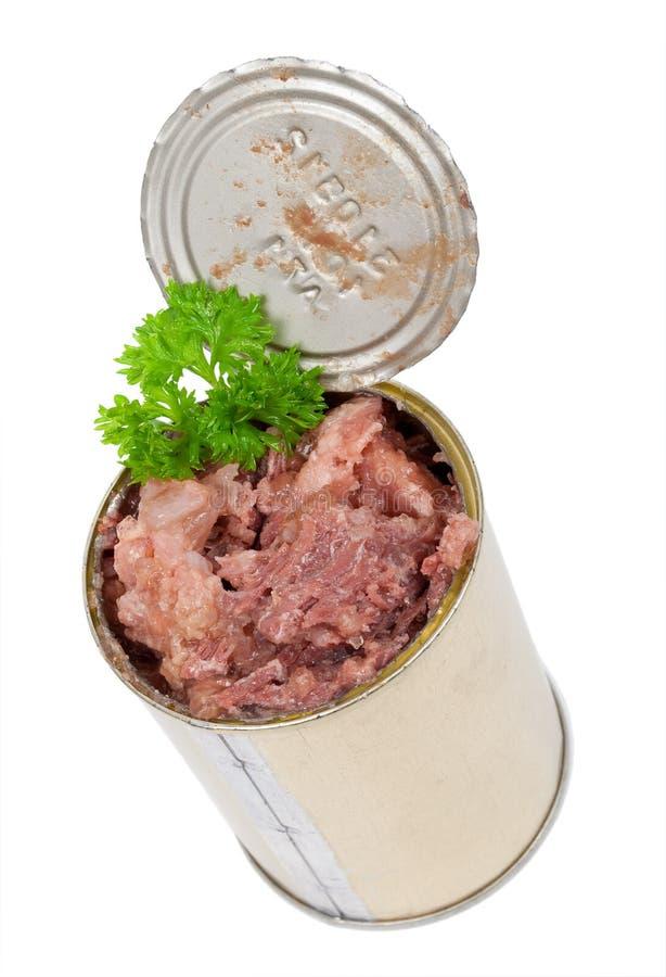 Konserwować mięso z pietruszką fotografia stock