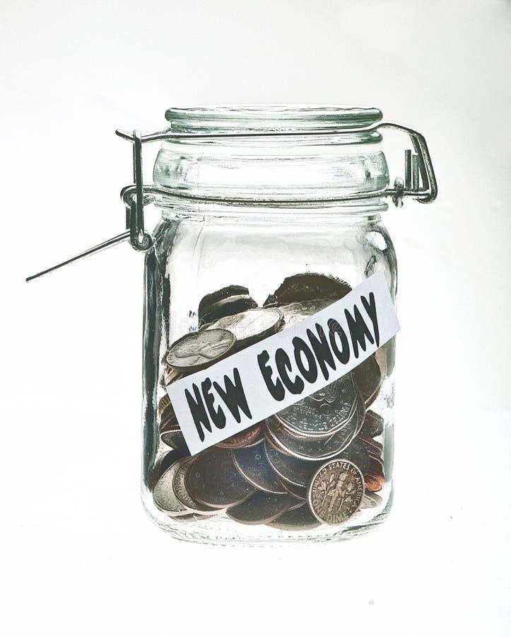 konserwować monety wypełniający słój obraz stock