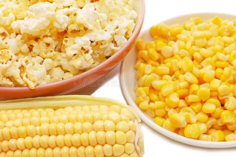 konserwujący kukurydzany świeży popkorn zdjęcie stock