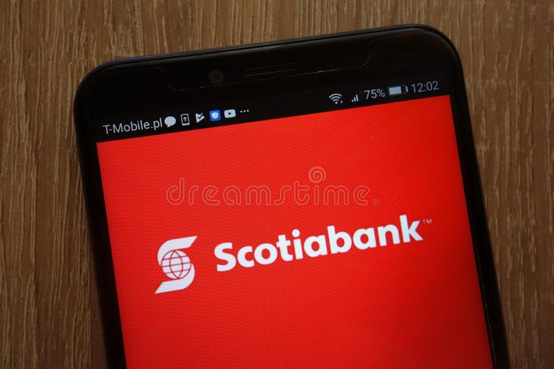 Scotiabank logo editorial photo  Image of canadian, finance - 102649911