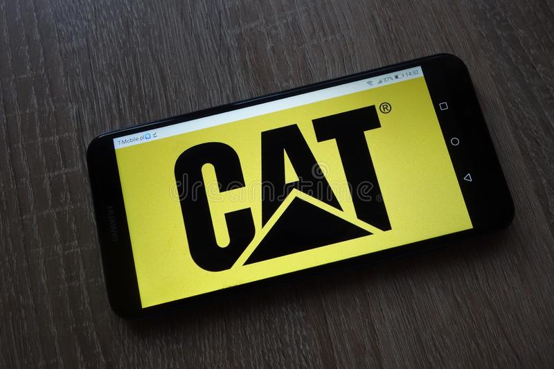Caterpillar Inc. logo displayed on smartphone royalty free stock photography