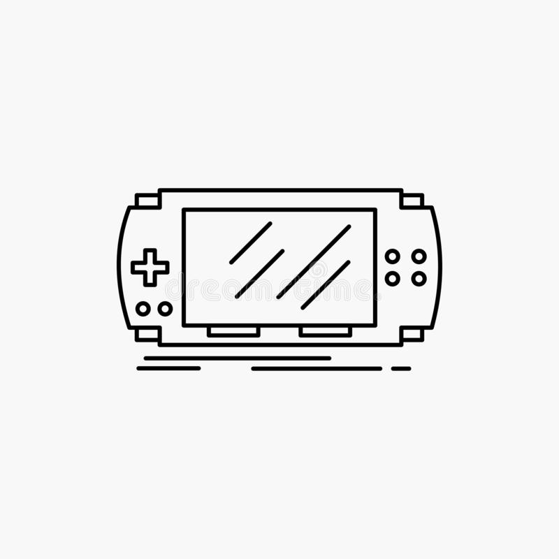 Konsol apparat, lek, dobbel, psplinje symbol Vektor isolerad illustration vektor illustrationer
