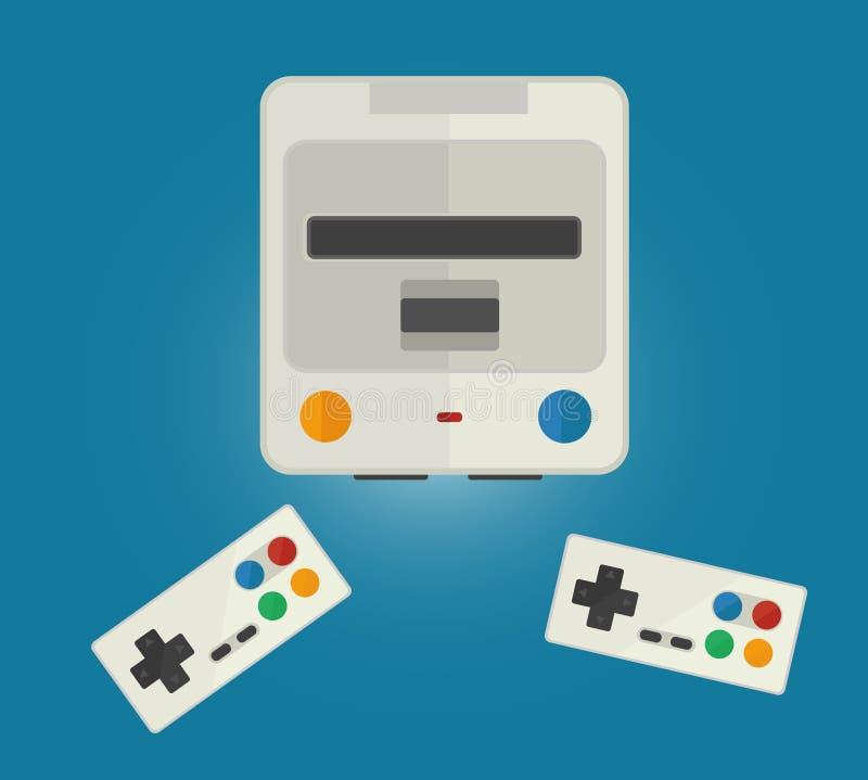 Konsol för dataspelar royaltyfri illustrationer