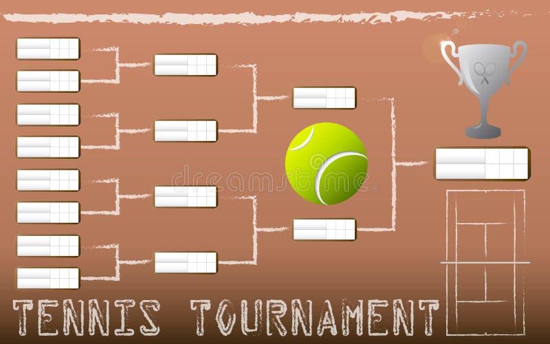 Konsol för tennisturnering royaltyfri illustrationer