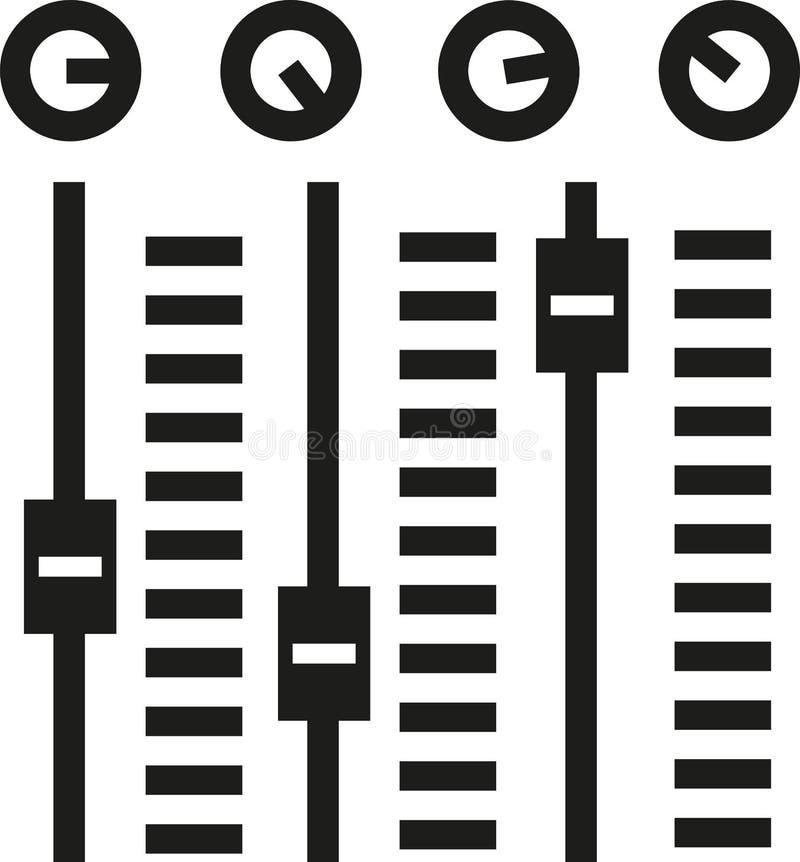 Konsol med solid blandande kontroll royaltyfri illustrationer