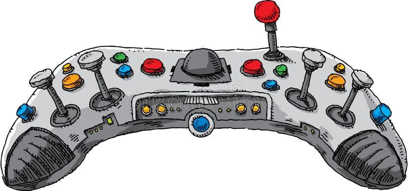Konsoli gry kontroler royalty ilustracja