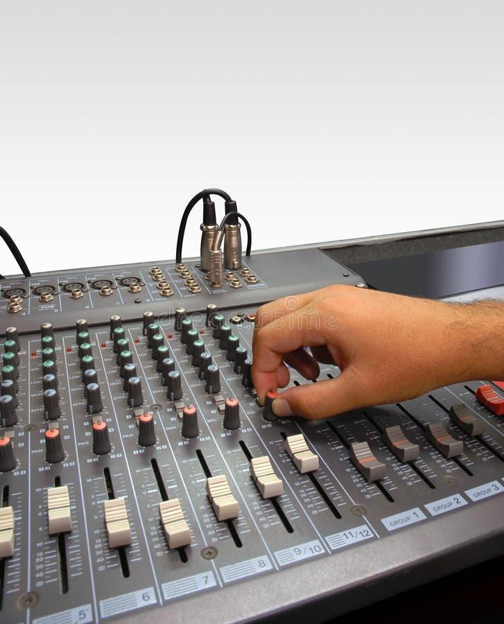konsoli ręki melanżeru dźwięka biel fotografia royalty free