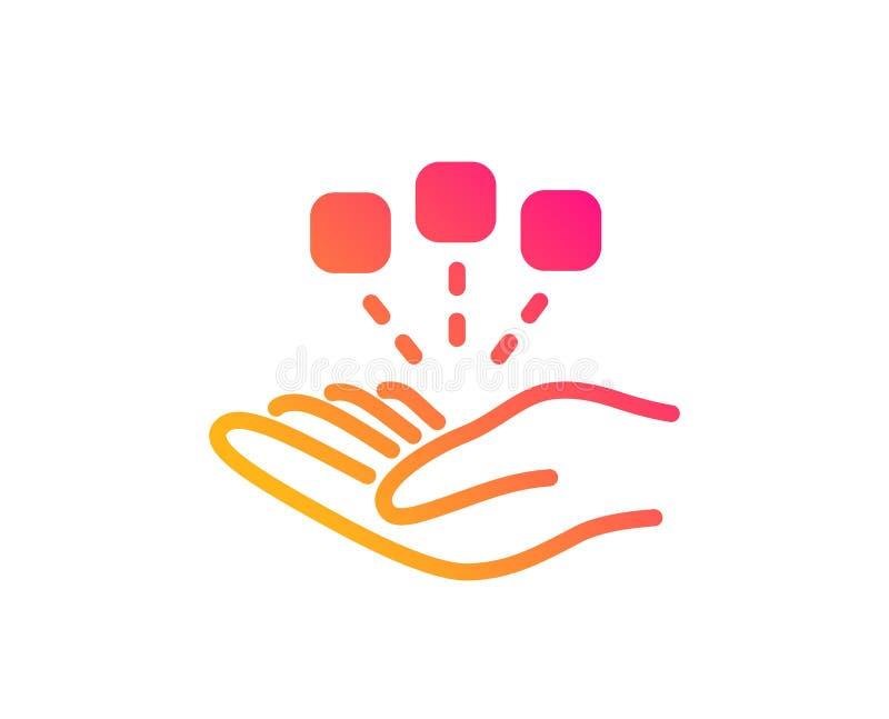 konsolidacji ikona Strategia Biznesowa znak wektor royalty ilustracja