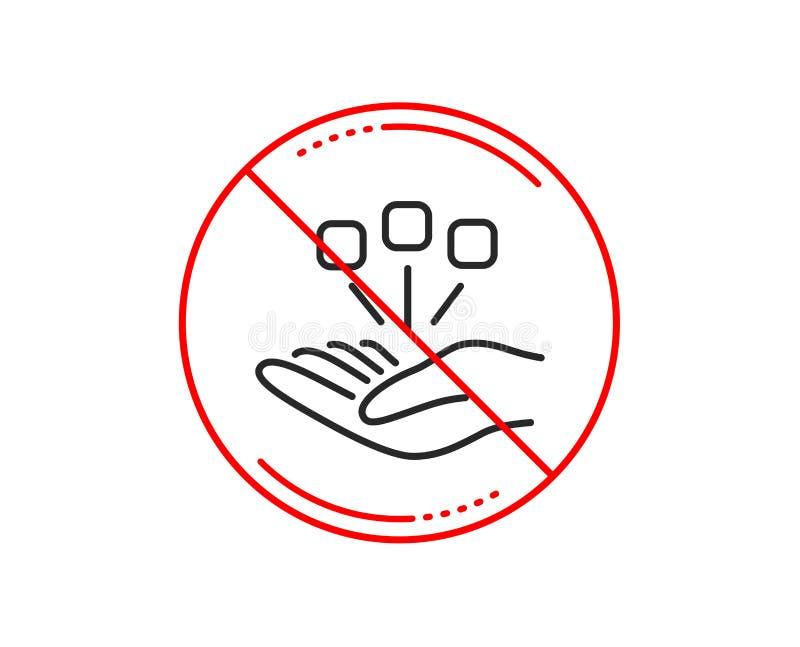 Konsolidacji kreskowa ikona Strategia Biznesowa znak wektor ilustracji