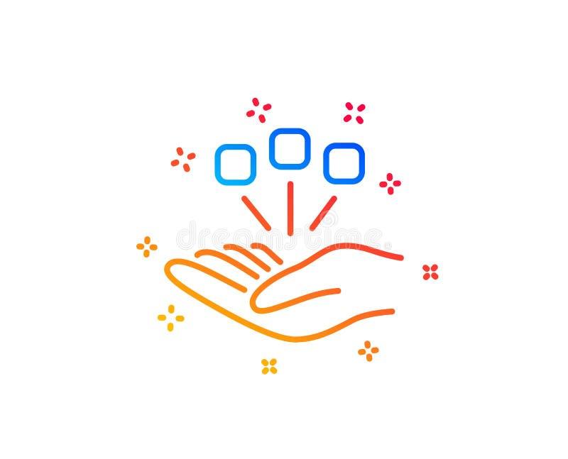 Konsolidacji kreskowa ikona Strategia Biznesowa znak wektor royalty ilustracja
