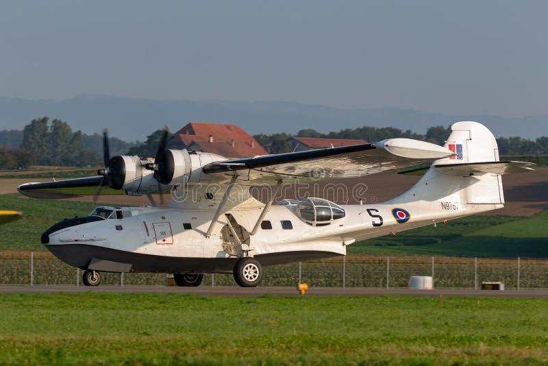 Konsolidujący PBY-5A Catalina ziemnowodny samolot druga wojna światowa fotografia royalty free