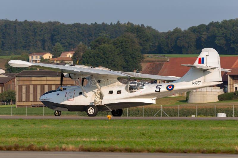 Konsolidujący PBY-5A Catalina ziemnowodny samolot druga wojna światowa zdjęcia stock