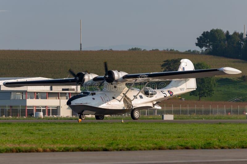 Konsolidujący PBY-5A Catalina ziemnowodny samolot druga wojna światowa fotografia stock