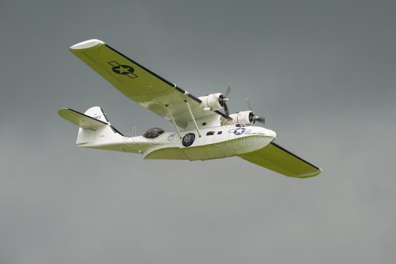 Konsolidujący Catalina PBY5A, 'chybienie Pickup' zdjęcia royalty free