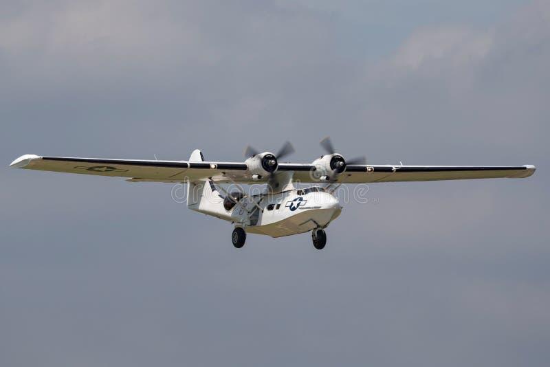 Konsolidujący PBY-5A Catalina ziemnowodny samolot druga wojna światowa obrazy stock