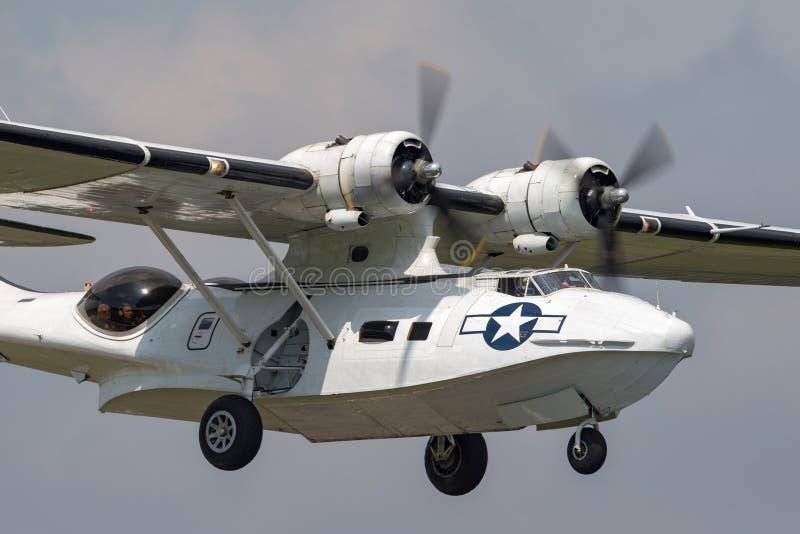 Konsolidujący PBY-5A Catalina ziemnowodny samolot druga wojna światowa zdjęcia royalty free