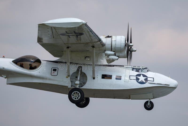 Konsolidujący PBY-5A Catalina ziemnowodny samolot druga wojna światowa obraz stock